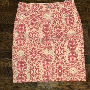 NYDJ EUC Red Tie dye skirt